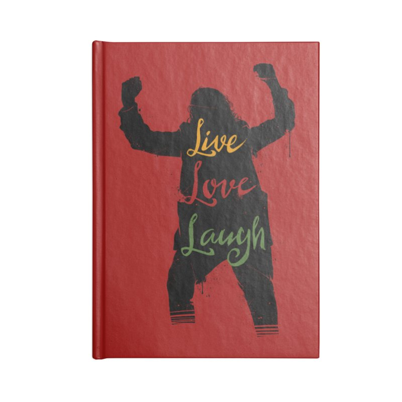 Live Love Laugh Accessories Blank Journal Notebook by Vincent Trinidad Art