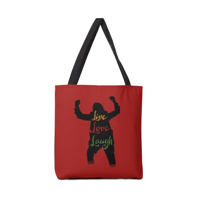 Live Love Laugh Accessories Tote Bag Bag by Vincent Trinidad Art