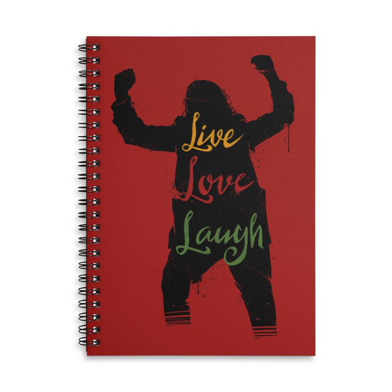Live Love Laugh Accessories Lined Spiral Notebook by Vincent Trinidad Art