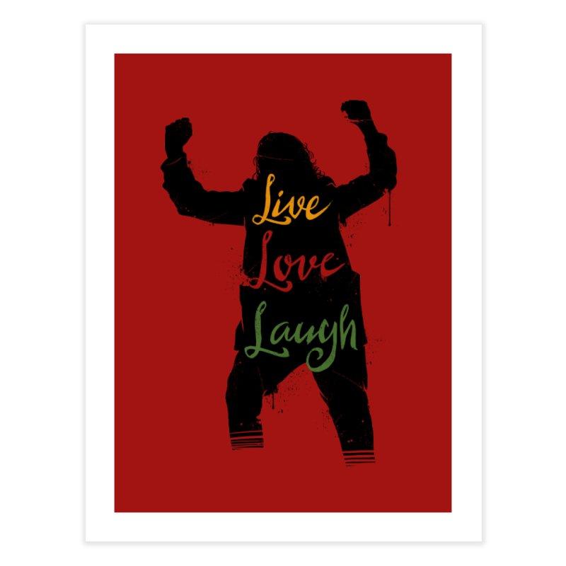 Live Love Laugh Home Fine Art Print by Vincent Trinidad Art