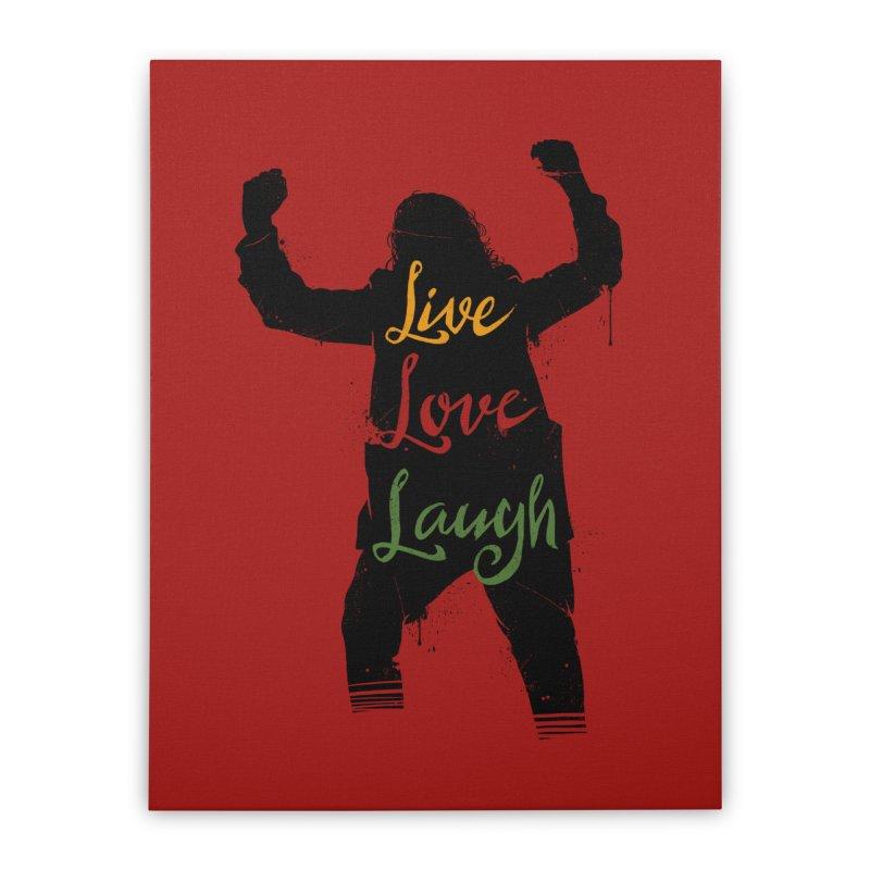 Live Love Laugh Home Stretched Canvas by Vincent Trinidad Art