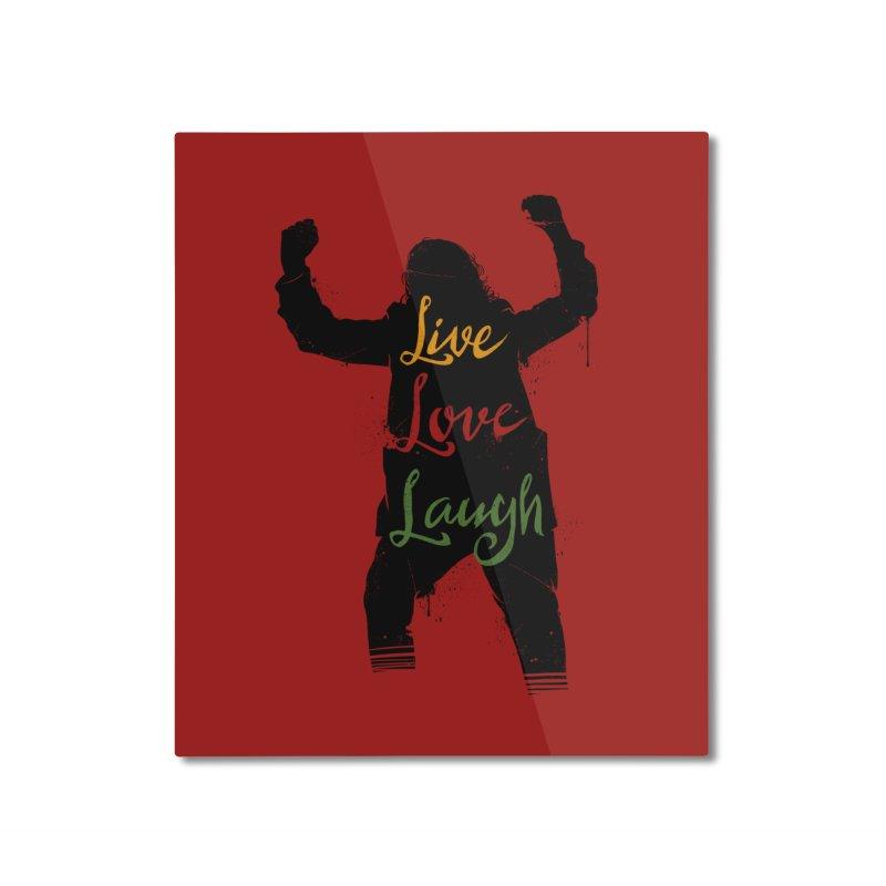 Live Love Laugh Home Mounted Aluminum Print by Vincent Trinidad Art