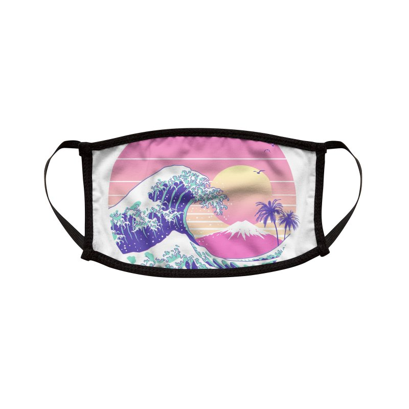 The Great Vaporwave Accessories Face Mask by Vincent Trinidad Art