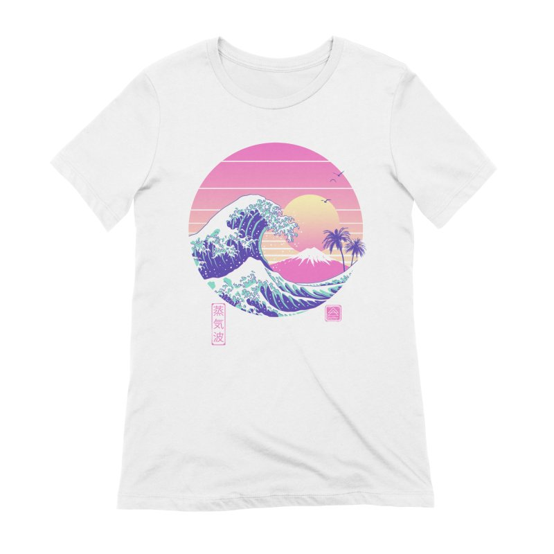 The Great Vaporwave Women's Extra Soft T-Shirt by Vincent Trinidad Art