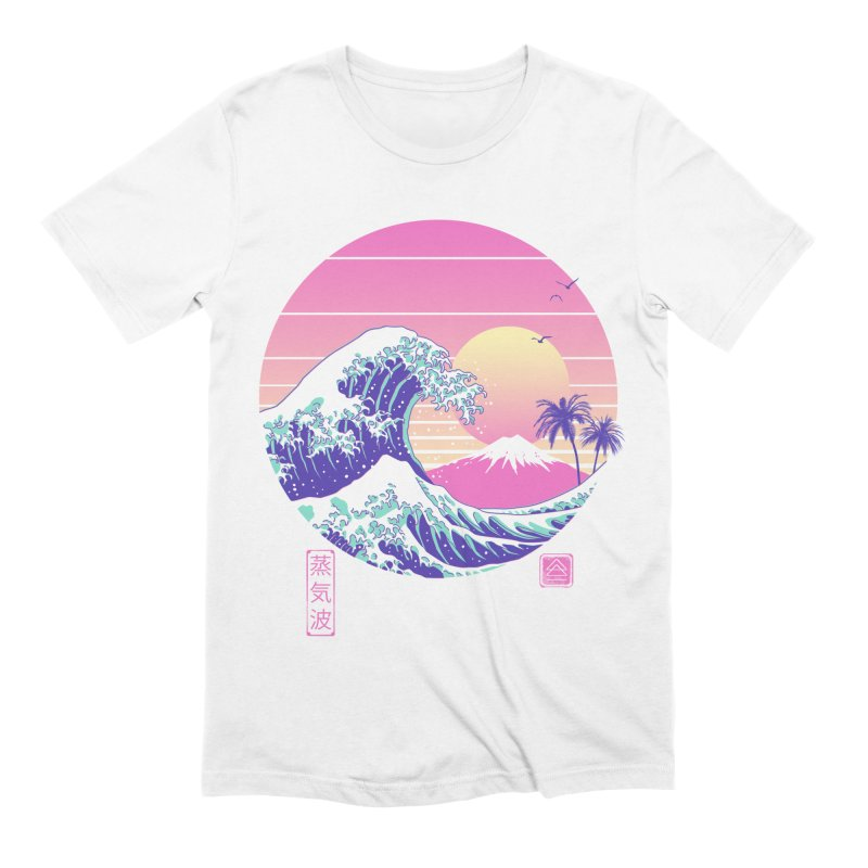 The Great Vaporwave Men's Extra Soft T-Shirt by Vincent Trinidad Art