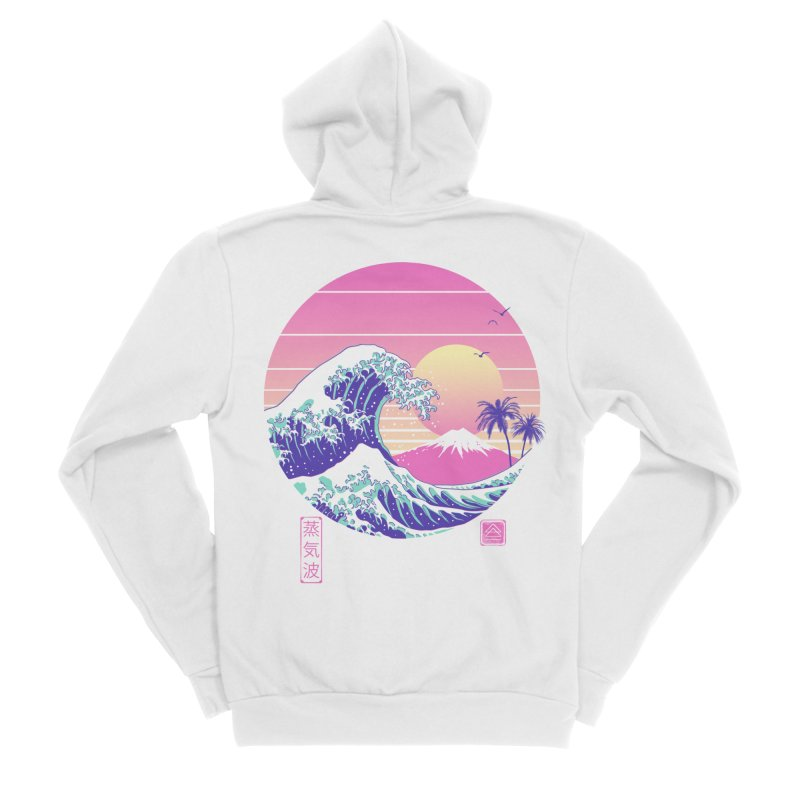 The Great Vaporwave Men's Sponge Fleece Zip-Up Hoody by Vincent Trinidad Art