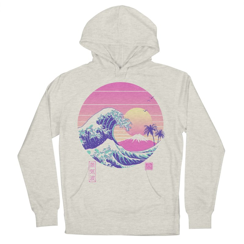 The Great Vaporwave Men's French Terry Pullover Hoody by Vincent Trinidad Art