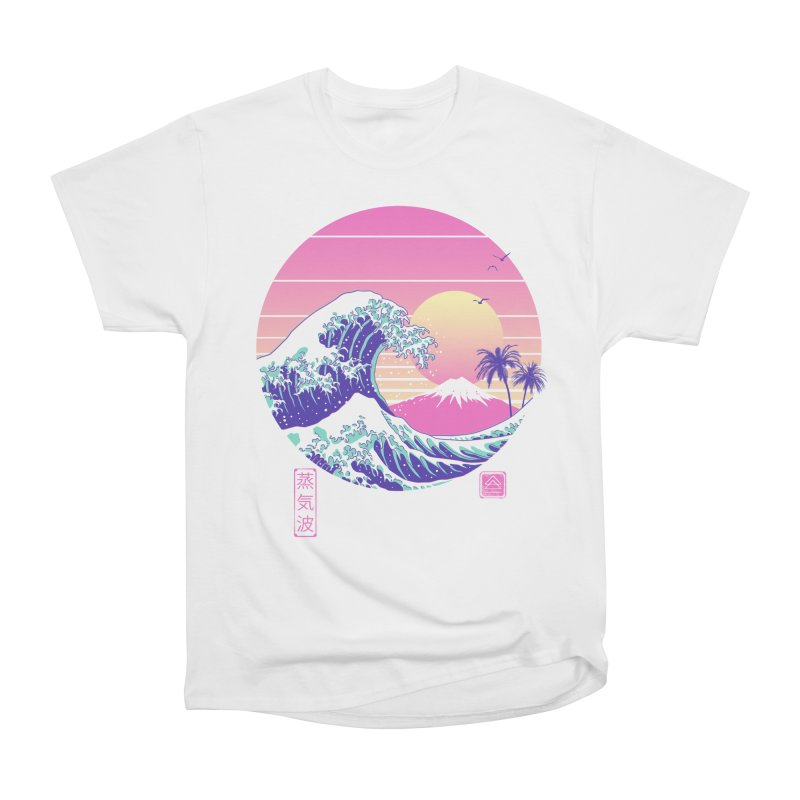 The Great Vaporwave Women's Heavyweight Unisex T-Shirt by Vincent Trinidad Art