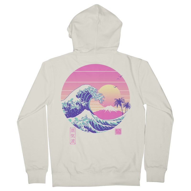 The Great Vaporwave Men's French Terry Zip-Up Hoody by Vincent Trinidad Art