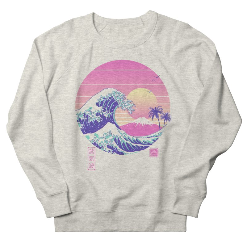 The Great Vaporwave Men's French Terry Sweatshirt by Vincent Trinidad Art