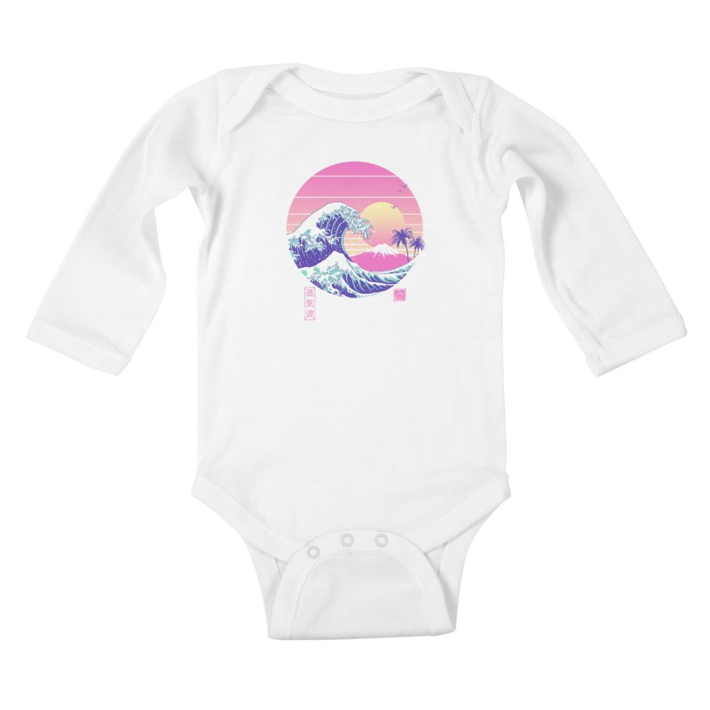 The Great Vaporwave Kids Baby Longsleeve Bodysuit by Vincent Trinidad Art