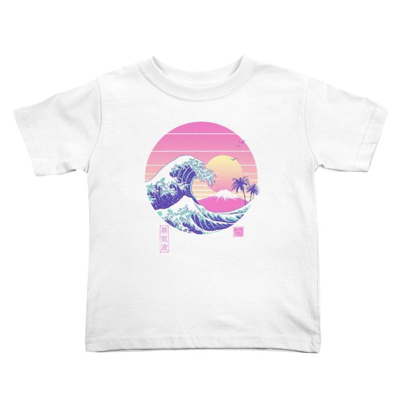 The Great Vaporwave Kids Toddler T-Shirt by Vincent Trinidad Art