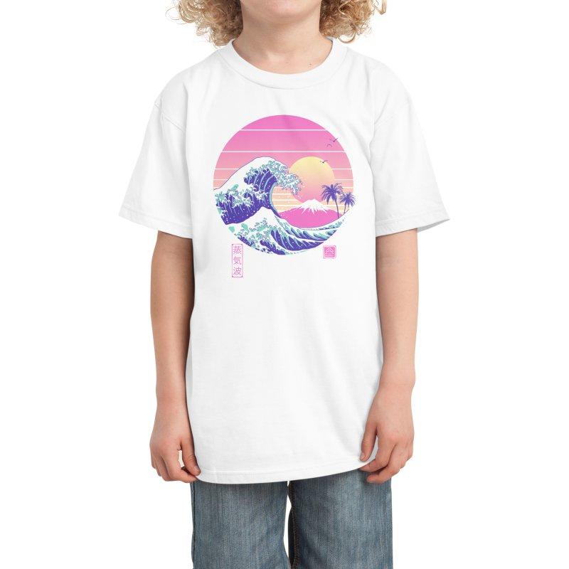 The Great Vaporwave Kids T-Shirt by Vincent Trinidad Art