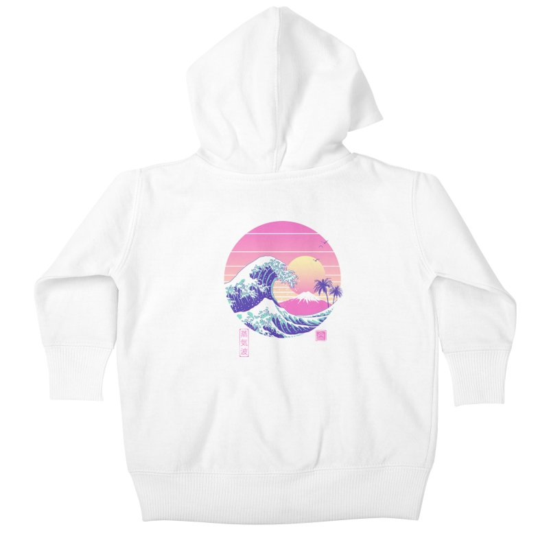 The Great Vaporwave Kids Baby Zip-Up Hoody by Vincent Trinidad Art