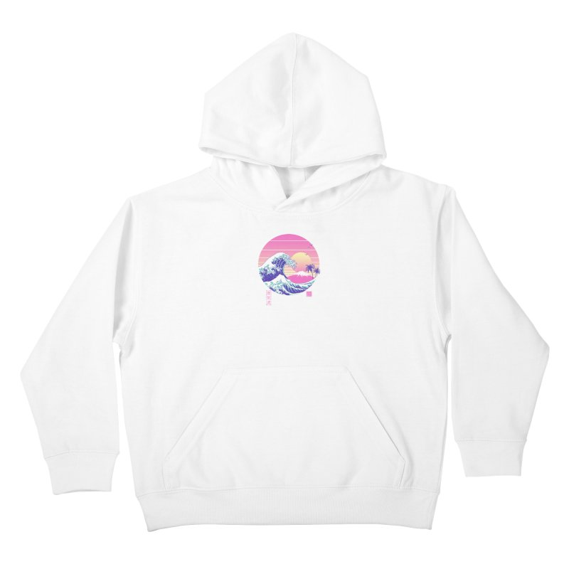 The Great Vaporwave Kids Pullover Hoody by Vincent Trinidad Art