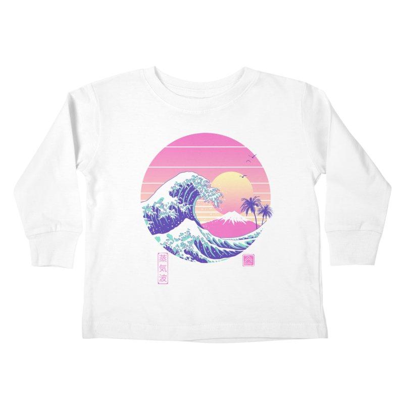 The Great Vaporwave Kids Toddler Longsleeve T-Shirt by Vincent Trinidad Art
