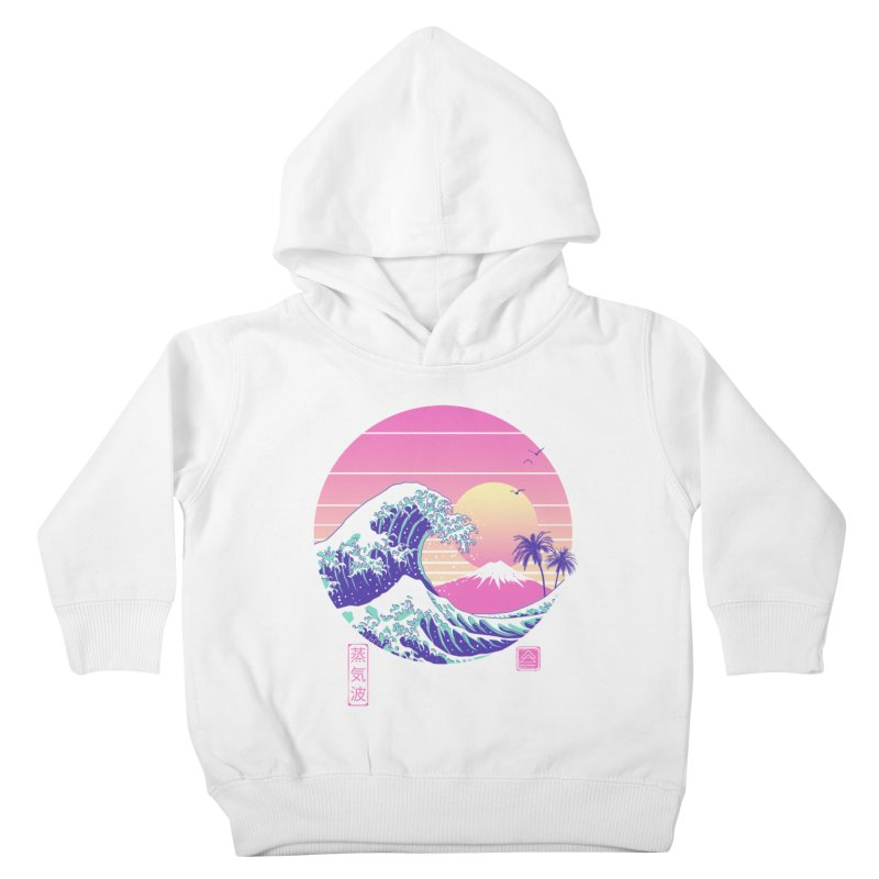 The Great Vaporwave Kids Toddler Pullover Hoody by Vincent Trinidad Art