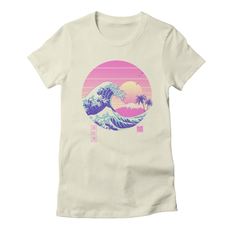 The Great Vaporwave Women's Fitted T-Shirt by Vincent Trinidad Art