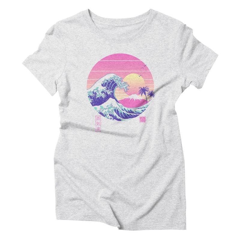 The Great Vaporwave Women's Triblend T-Shirt by Vincent Trinidad Art