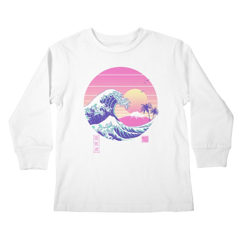 The Great Vaporwave Kids Longsleeve T-Shirt by Vincent Trinidad Art