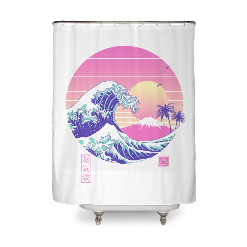 The Great Vaporwave Home Shower Curtain by Vincent Trinidad Art
