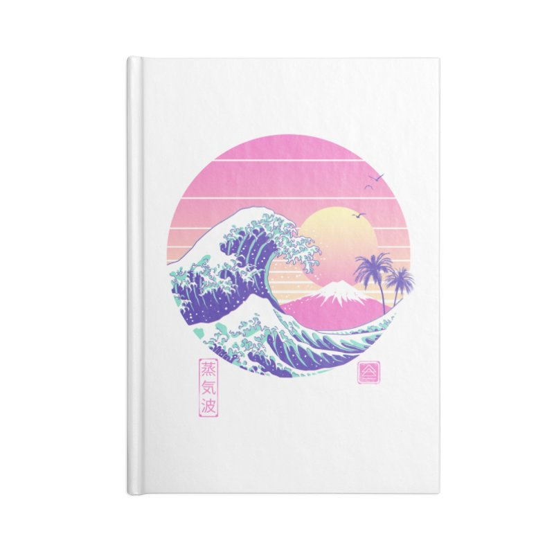 The Great Vaporwave Accessories Blank Journal Notebook by Vincent Trinidad Art