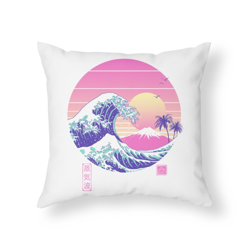 The Great Vaporwave Home Throw Pillow by Vincent Trinidad Art