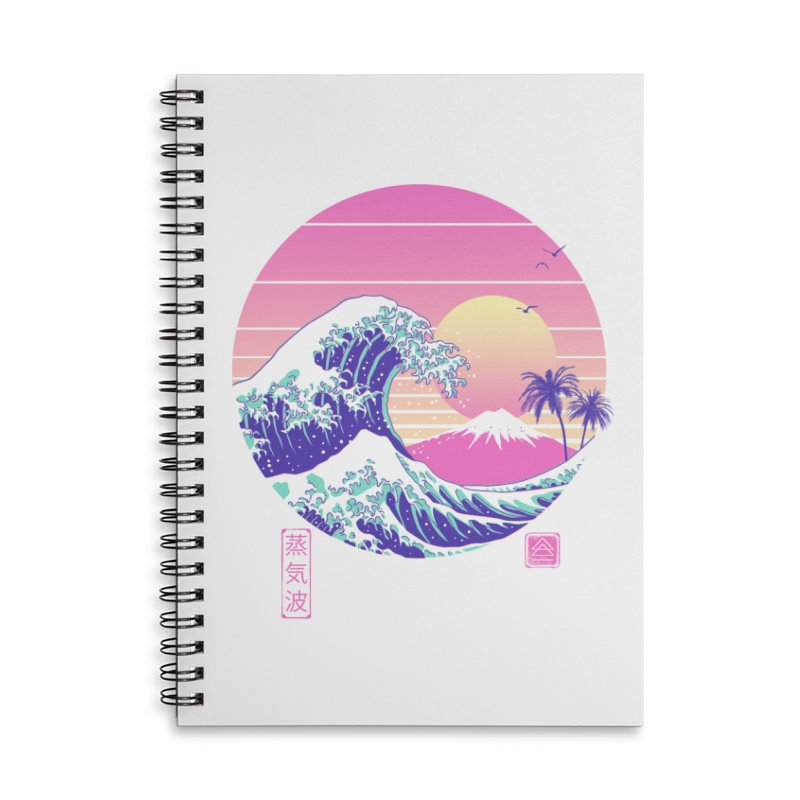 The Great Vaporwave Accessories Lined Spiral Notebook by Vincent Trinidad Art