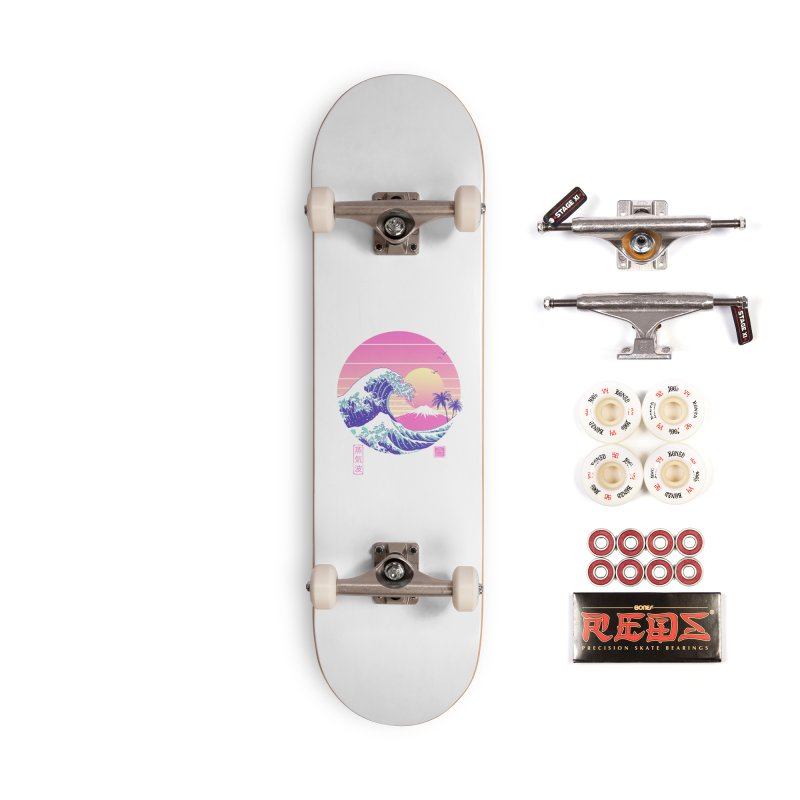 The Great Vaporwave Accessories Complete - Pro Skateboard by Vincent Trinidad Art