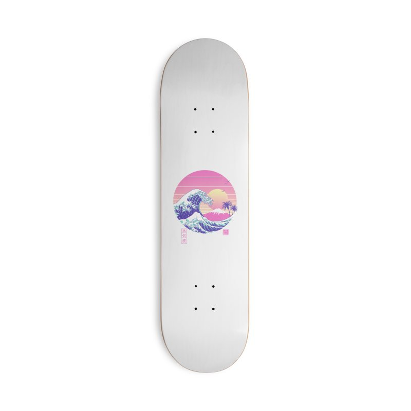 The Great Vaporwave Accessories Deck Only Skateboard by Vincent Trinidad Art