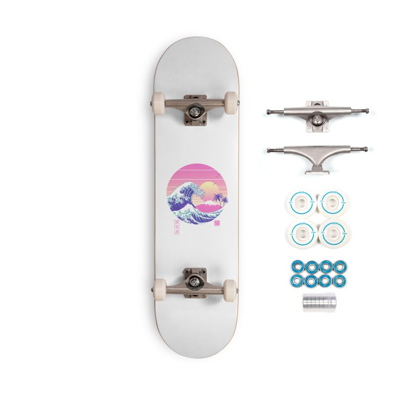 The Great Vaporwave Accessories Skateboard by Vincent Trinidad Art