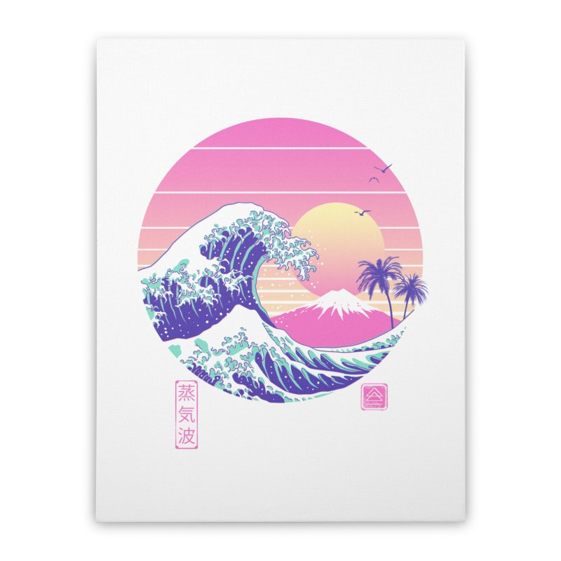 The Great Vaporwave Home Stretched Canvas by Vincent Trinidad Art