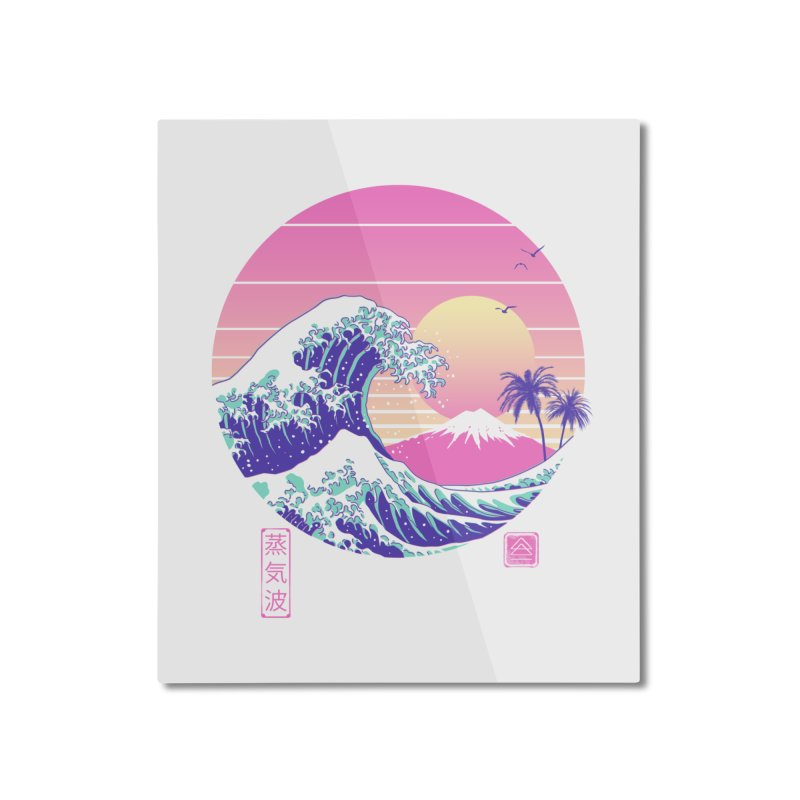 The Great Vaporwave Home Mounted Aluminum Print by Vincent Trinidad Art