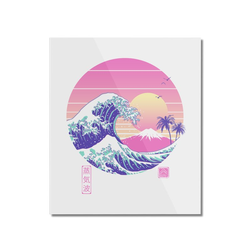 The Great Vaporwave Home Mounted Acrylic Print by Vincent Trinidad Art
