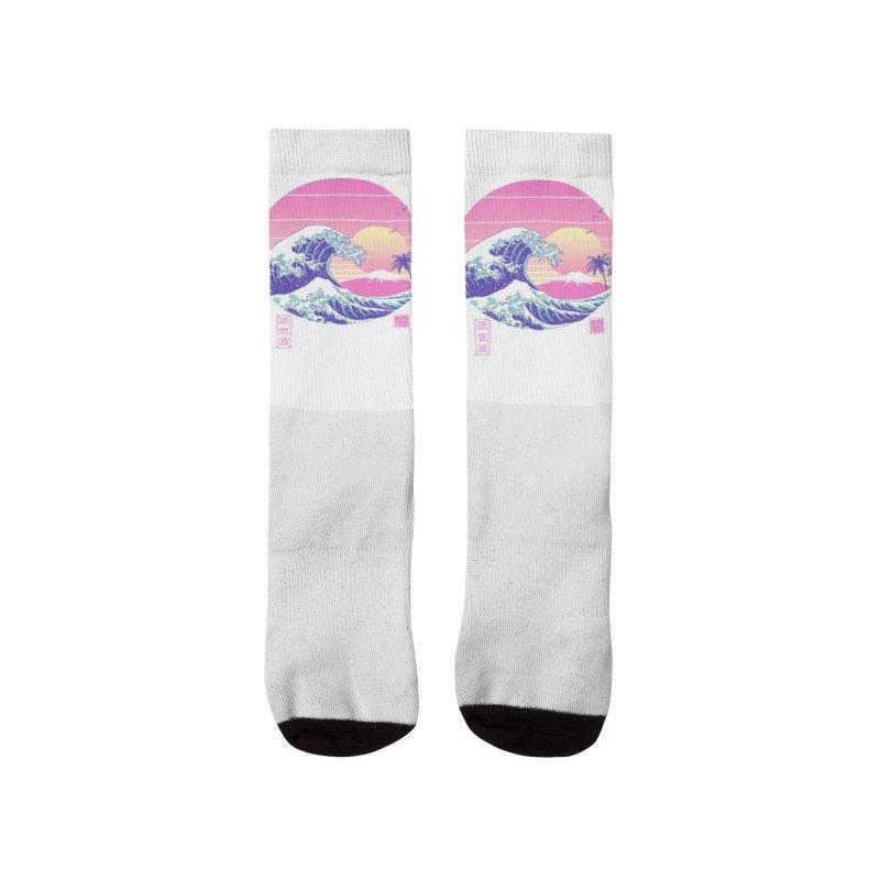 The Great Vaporwave Men's Socks by Vincent Trinidad Art