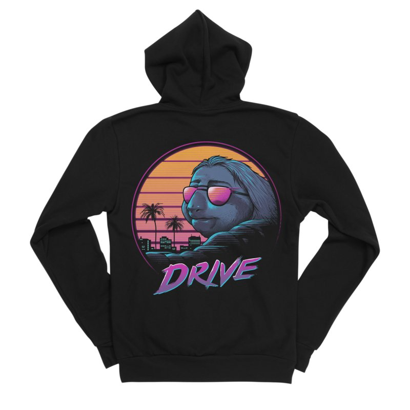 Slow Drive Men's Sponge Fleece Zip-Up Hoody by Vincent Trinidad Art