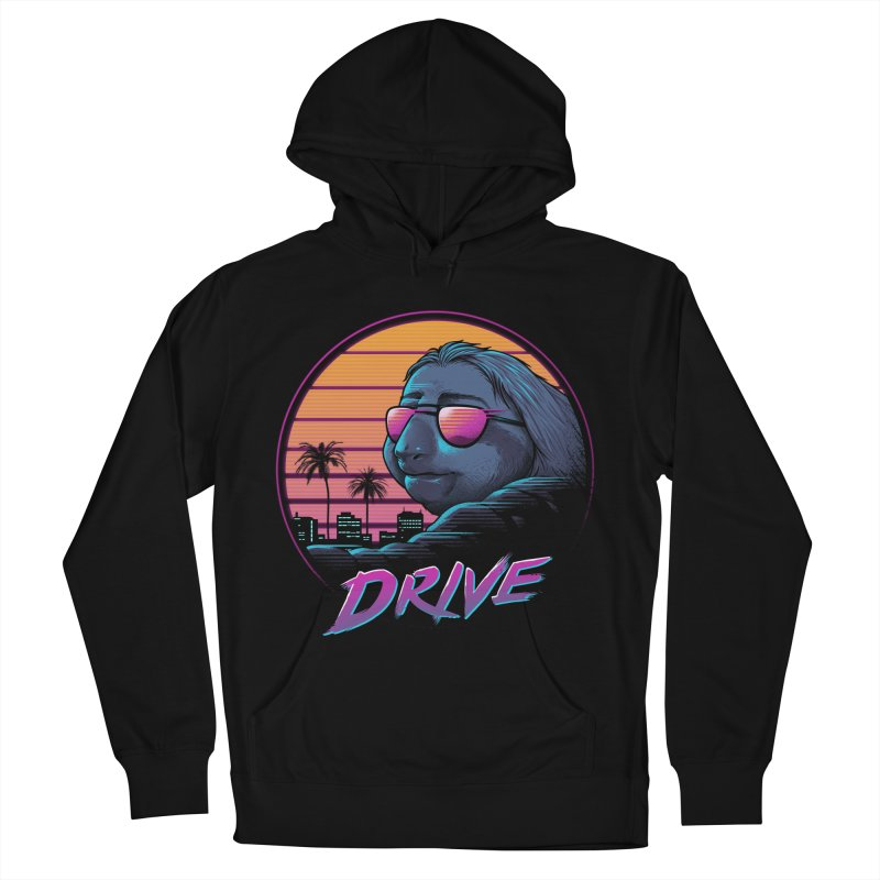 Slow Drive Men's French Terry Pullover Hoody by Vincent Trinidad Art