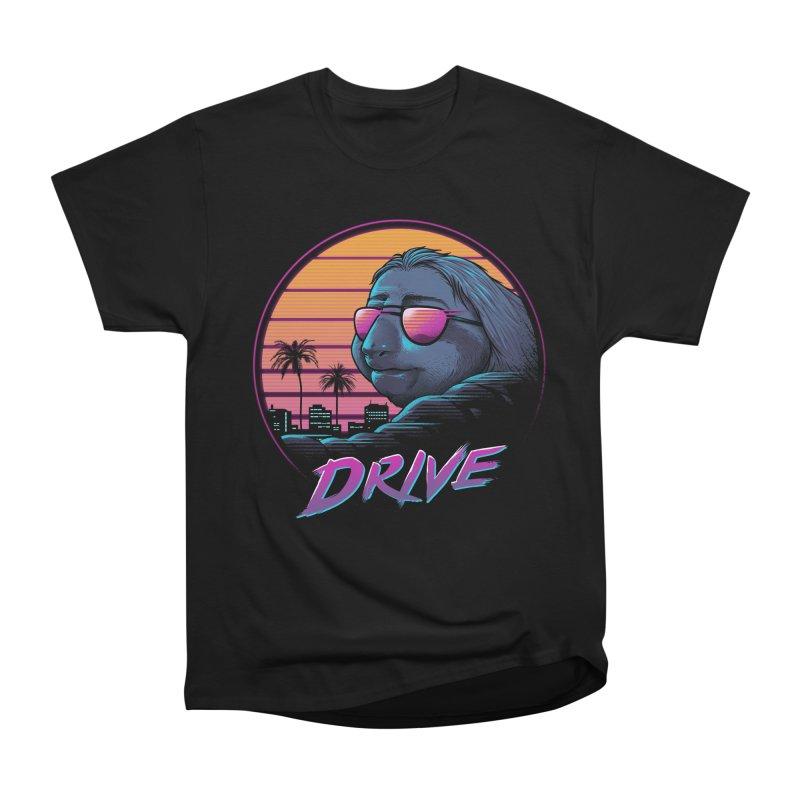 Slow Drive Men's Heavyweight T-Shirt by Vincent Trinidad Art