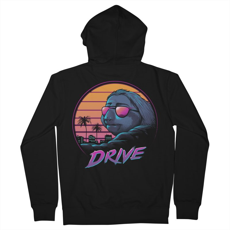 Slow Drive Men's French Terry Zip-Up Hoody by Vincent Trinidad Art