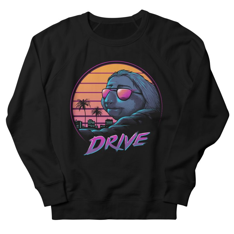 Slow Drive Men's French Terry Sweatshirt by Vincent Trinidad Art