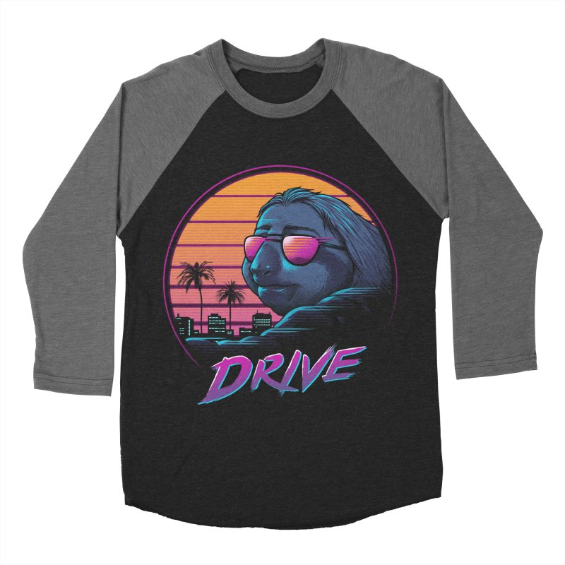 Slow Drive Men's Baseball Triblend Longsleeve T-Shirt by Vincent Trinidad Art