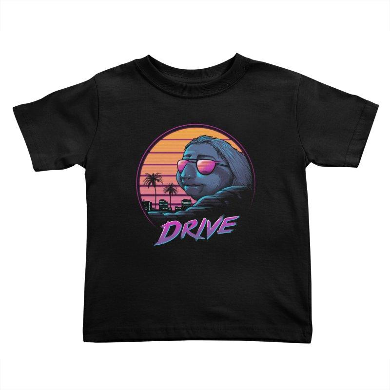 Slow Drive Kids Toddler T-Shirt by Vincent Trinidad Art