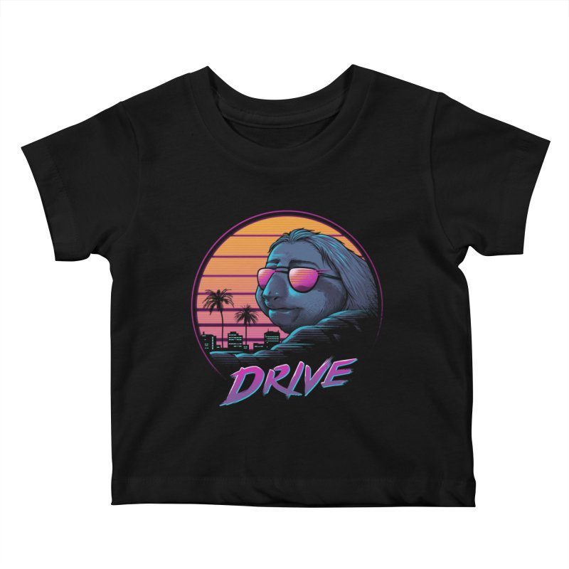 Slow Drive Kids Baby T-Shirt by Vincent Trinidad Art