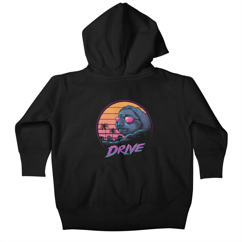 Slow Drive Kids Baby Zip-Up Hoody by Vincent Trinidad Art