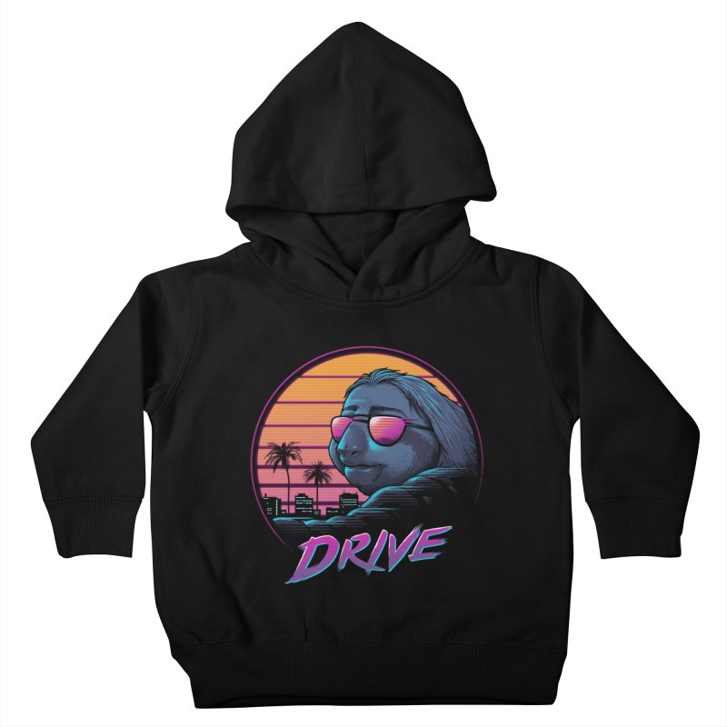 Slow Drive Kids Toddler Pullover Hoody by Vincent Trinidad Art