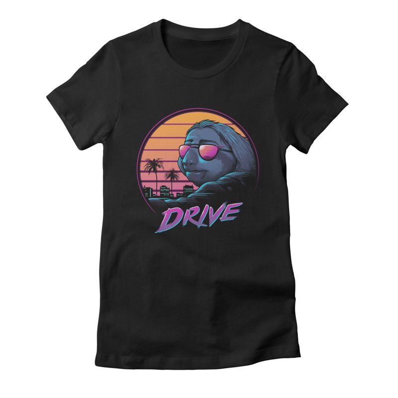 Slow Drive Women's Fitted T-Shirt by Vincent Trinidad Art