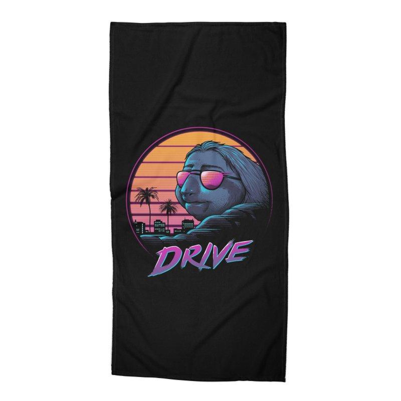Slow Drive Accessories Beach Towel by Vincent Trinidad Art