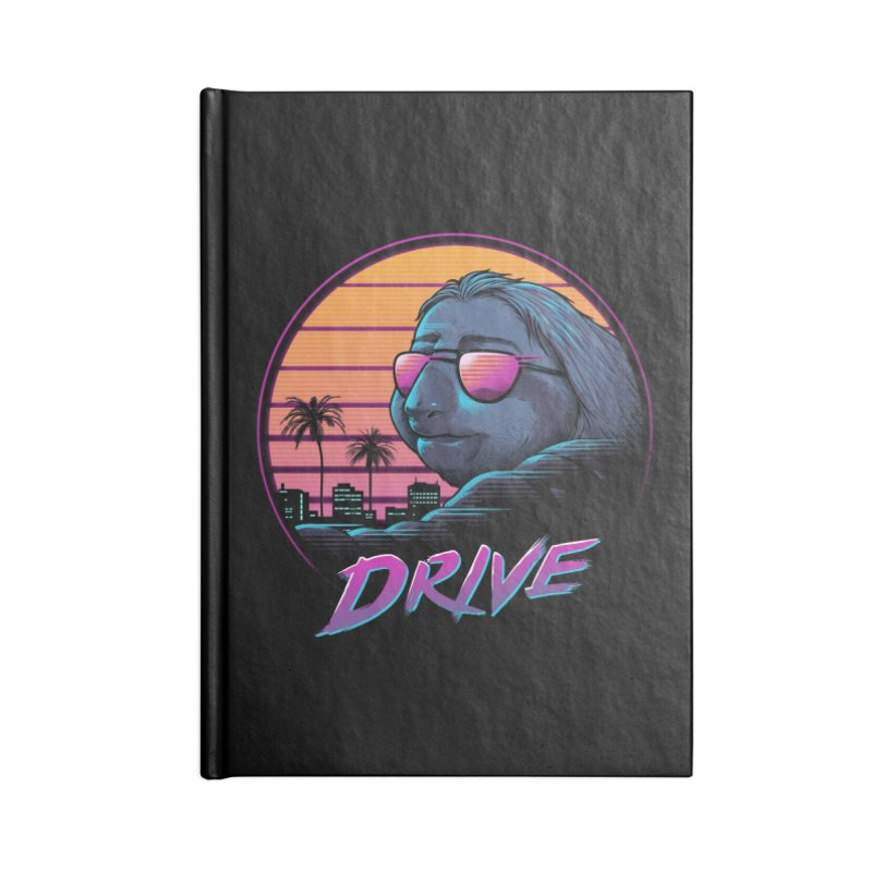 Slow Drive Accessories Lined Journal Notebook by Vincent Trinidad Art
