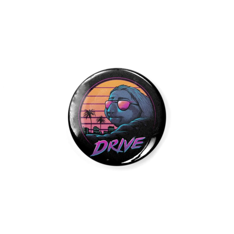 Slow Drive Accessories Button by Vincent Trinidad Art