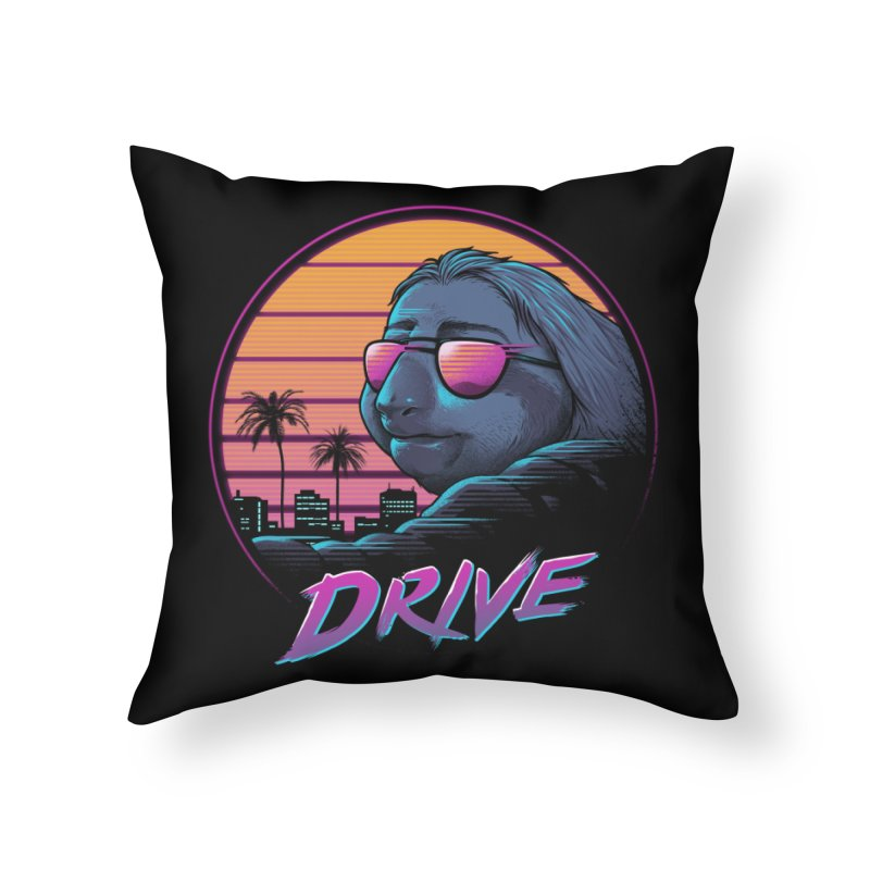 Slow Drive Home Throw Pillow by Vincent Trinidad Art